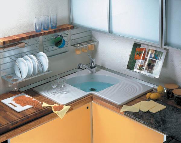 мойки для кухни угловые фото и цены
