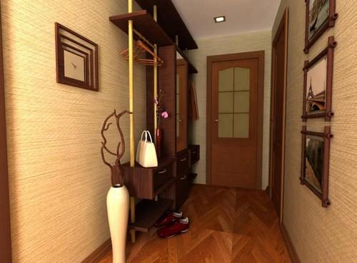 оформление узкого коридора фото в квартире
